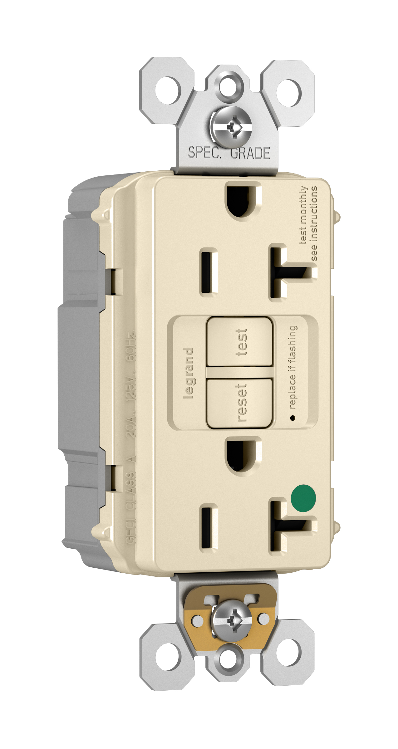 Pass Seymour Pt2097 Hgla Revere Electric Wiring Gfci Receptacles Self Test Receptacle 125 Vac 20 A 2 Poles 3 Wires Light Almond