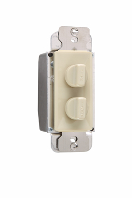 P&S 94315-I FAN CONTROL DUAL IV 1.5A 3-SPEED + 300W HI/LOW DIMMER 120V IVORY ROTARY DEHUMMER