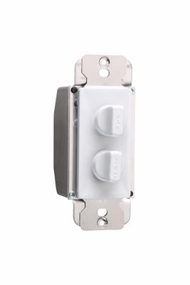 P&S 94315-W FAN CONTROL DUAL WHT 1.5A 3-SPEED + 300W HI/LOW DIMMER 120V ROTARY DEHUMMER WTEH