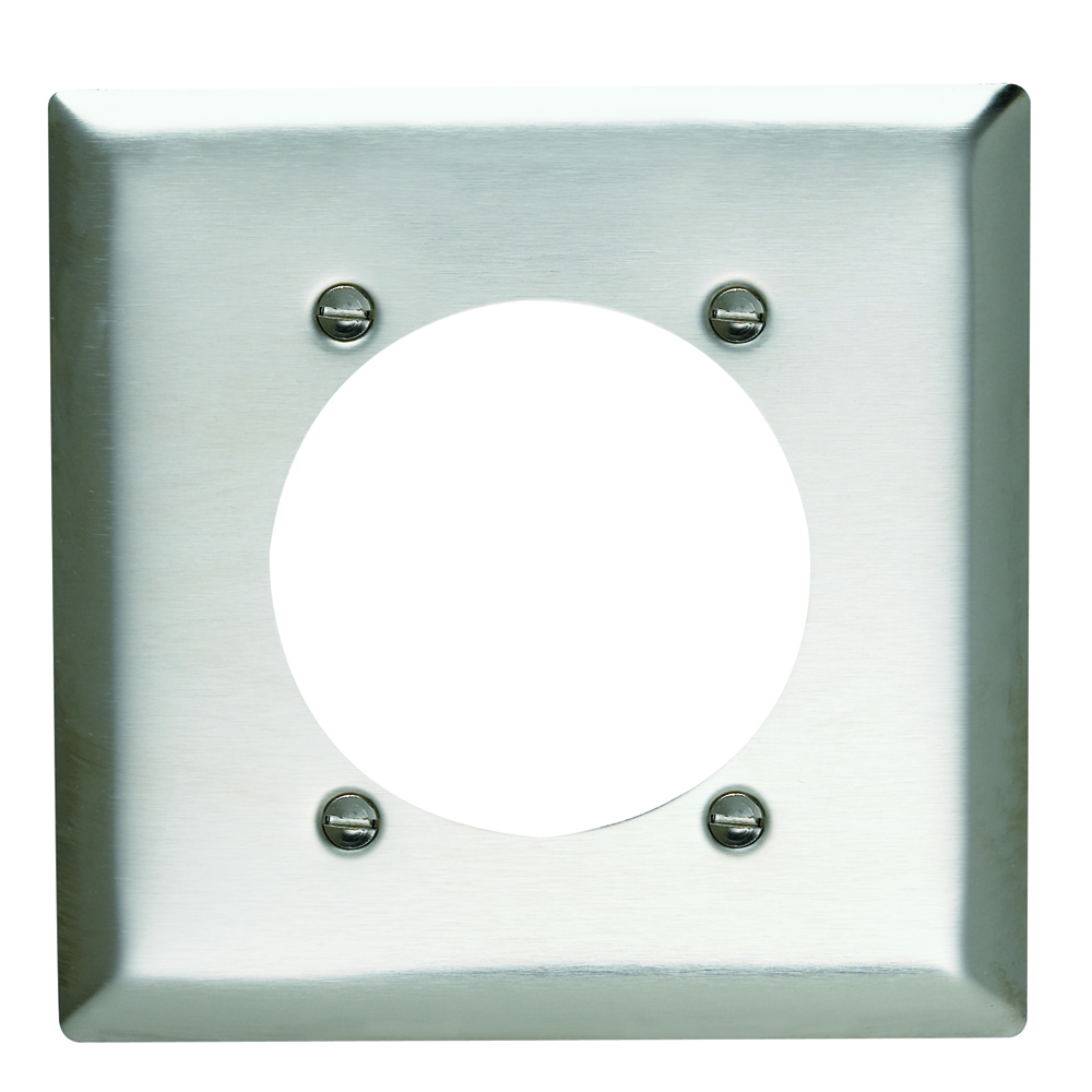 P&S SS701 SMOOTH 302SS 2G OUTLET PLATE 2.4688