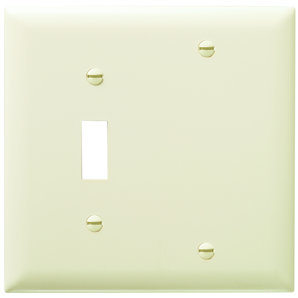 P&S TP113-LA NYLON LA 2G 1 TOG 1 BLANK LIGHT ALMOND PLATE