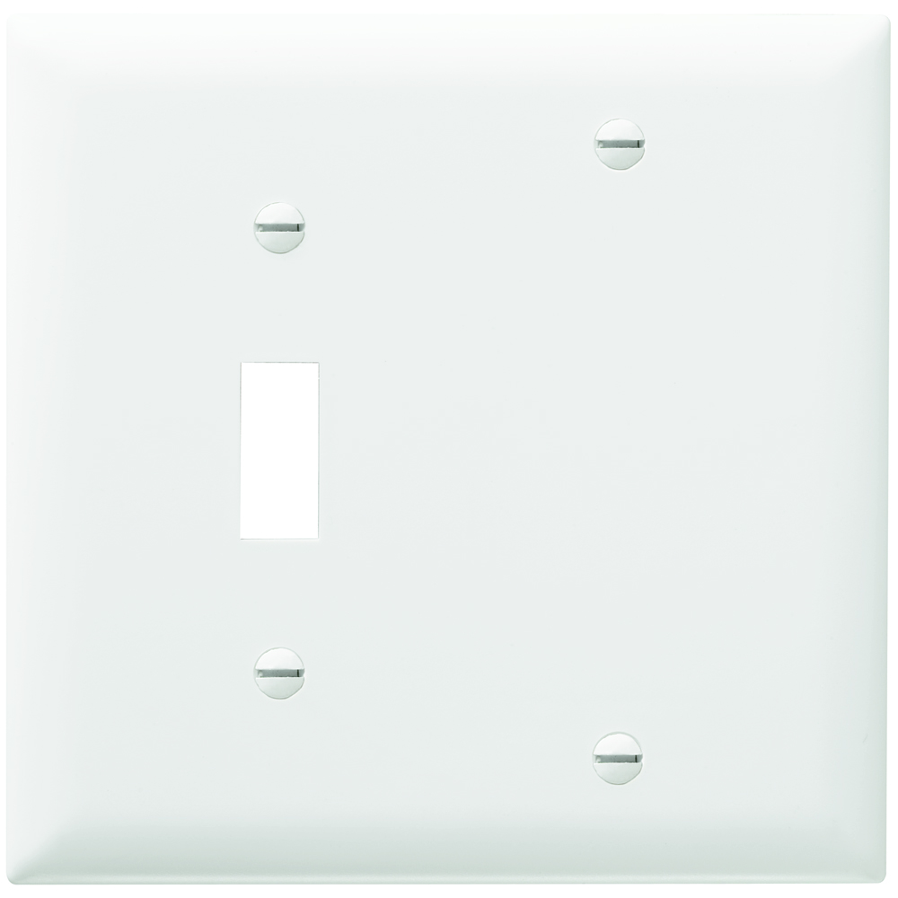 P&S TP113-W NYLON WHT 2G 1 TOG 1 BLANK WHITE PLATE