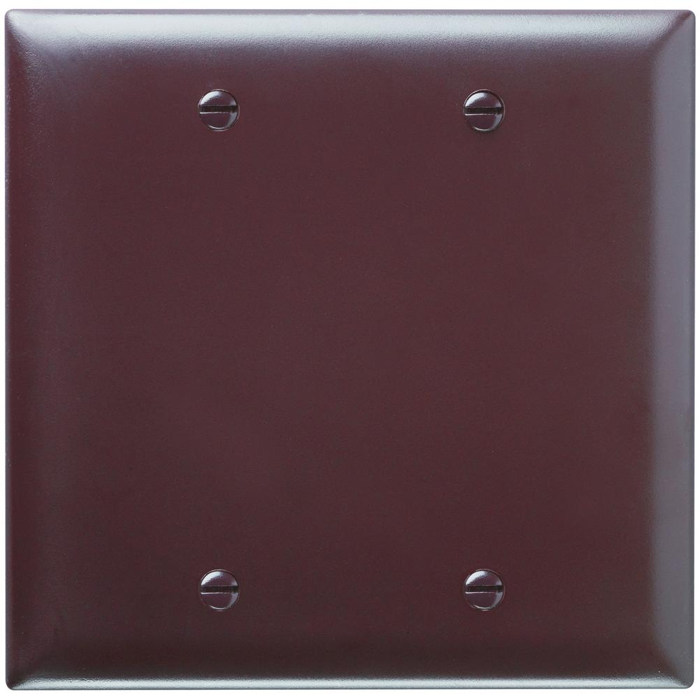 P&S TP23 NYLON BRN 2G BLANK BOX MOUNT BROWN PLATE