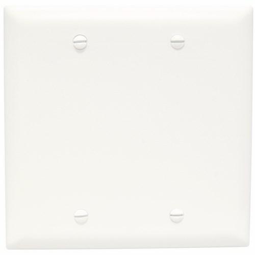 P&S TP23-W * NYLON WHT 2G BLANK BOX MOUNT WHITE PLATE