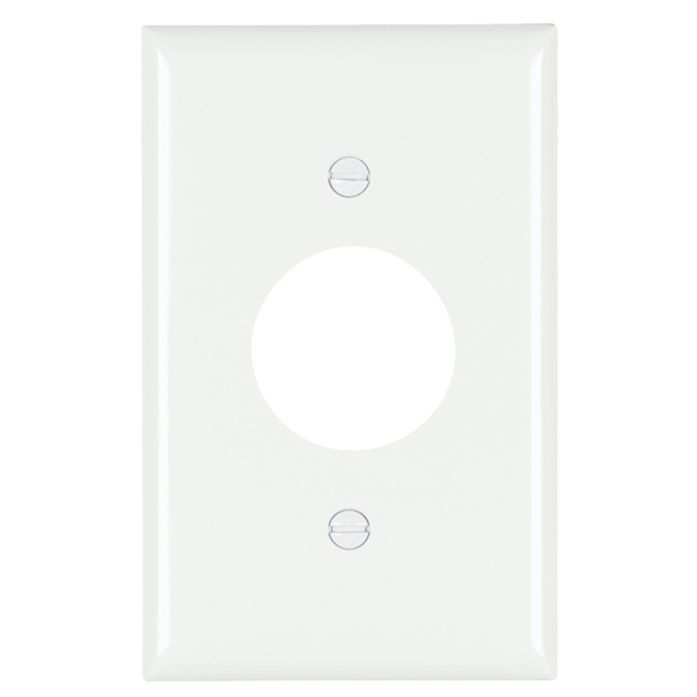 P&S TP7-W NYLON WHT 1G 1 SINGLE RECP WHITE RECEPTACLE PLATE