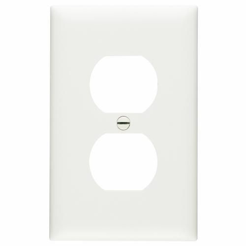 P&S TP8-W * NYLON WHT 1G 1 DUPLEX RECP WHITE RECEPTACLE PLATE