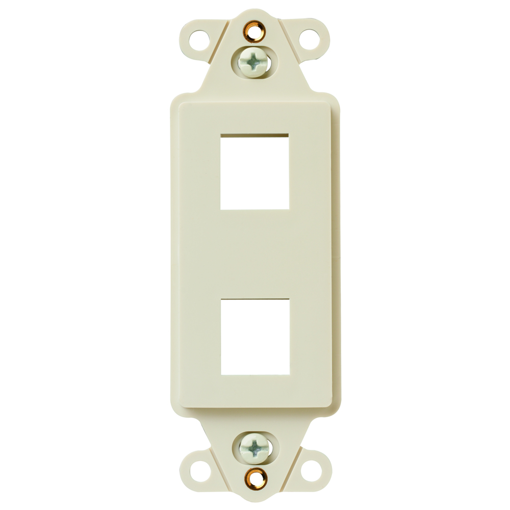 P&S KS226-LA 2-PORT DECORATOR FRAME LIGHT ALMOND