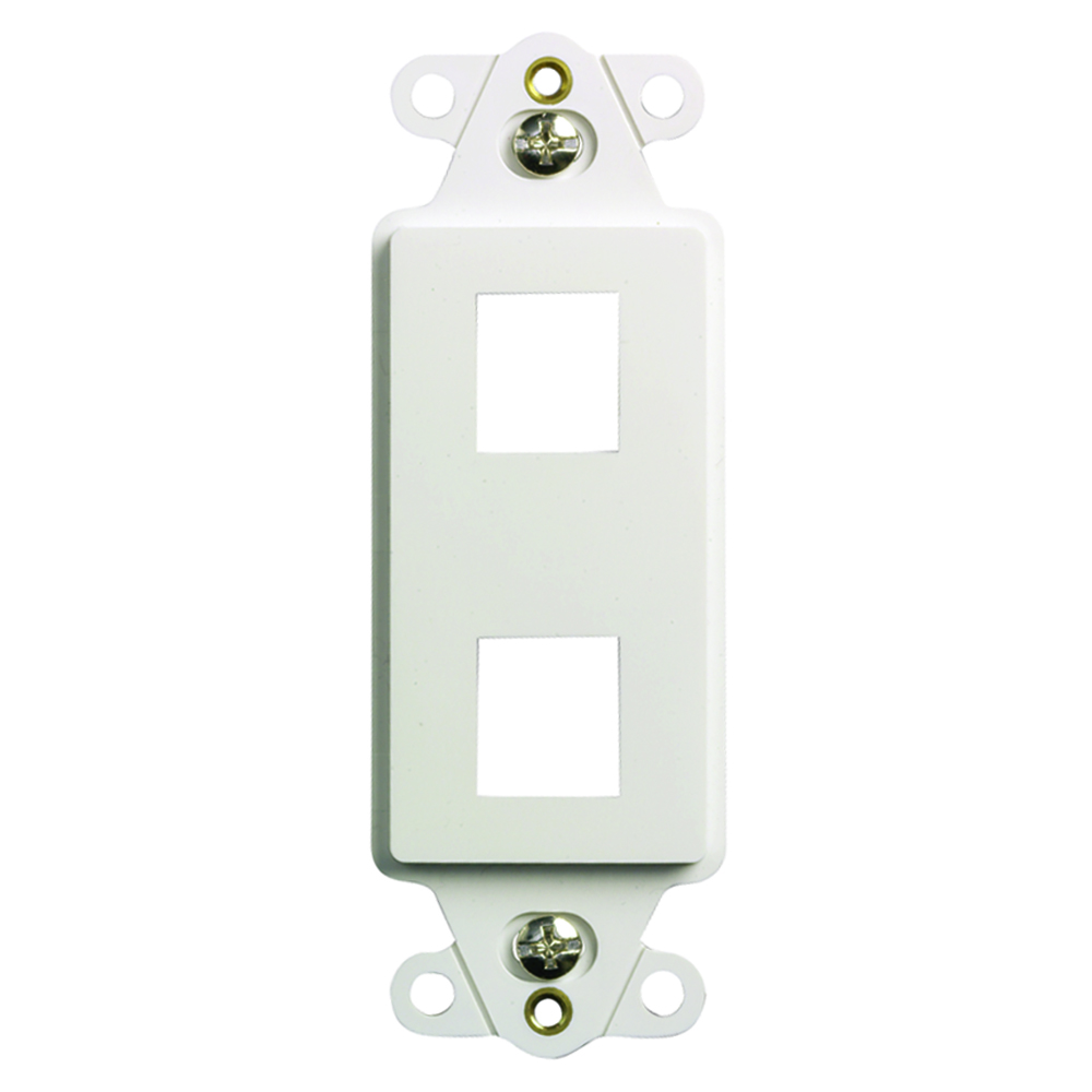 P&S KS226-W KEYSTONE DECORATOR 2 PORT WH