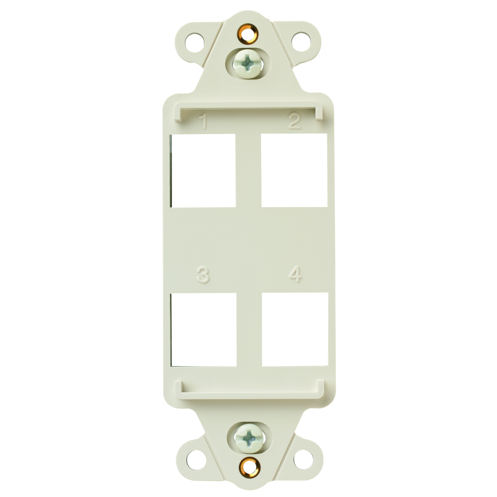 P&S KS426-LA 4-PORT DECORATOR FRAME LIGHT ALMOND