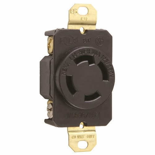 Pass & Seymour L1430-R Turnlok® Single Receptacle, 4Wire 30Amp 125/250V