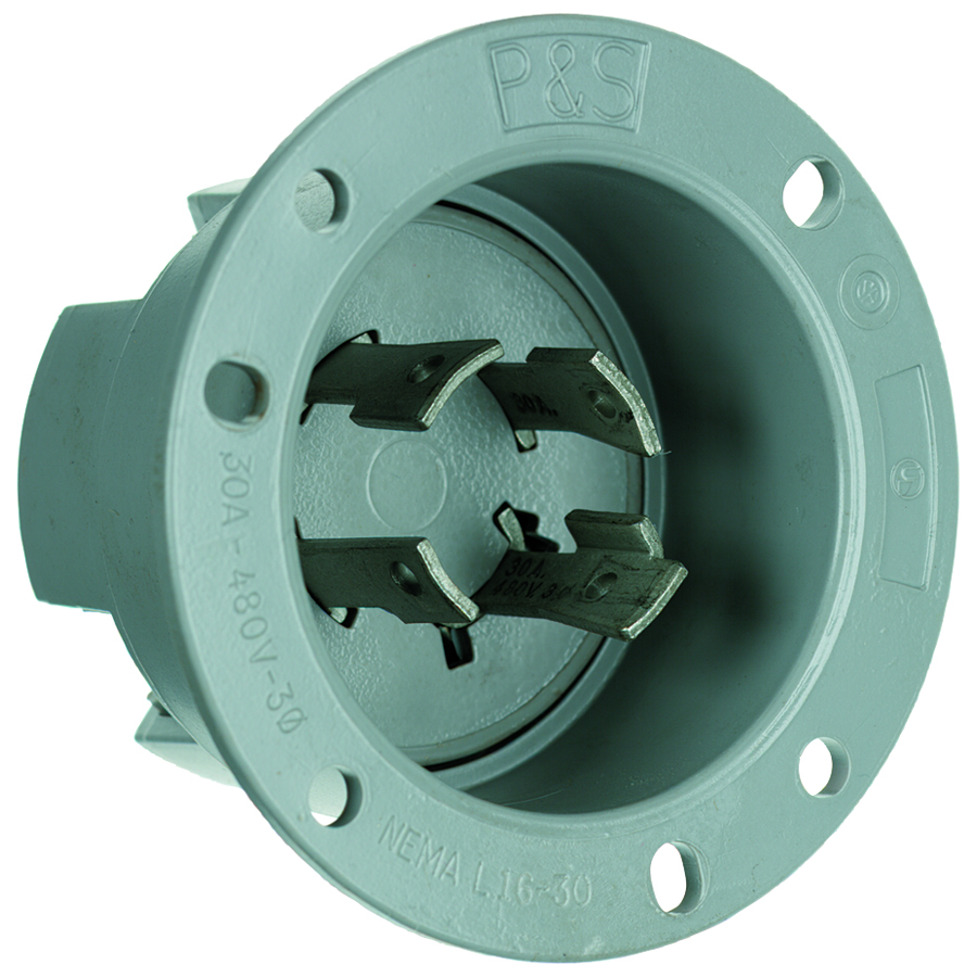 Pass & Seymour L1630-Fi Flanged Inlet 4Wire 30Amp 480Volt Turnlok