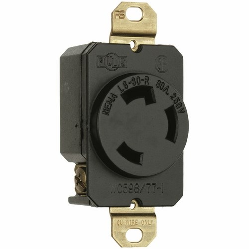Pass & Seymour L630-R Turnlok® Single Receptacle, 3Wire 30Amp 250V
