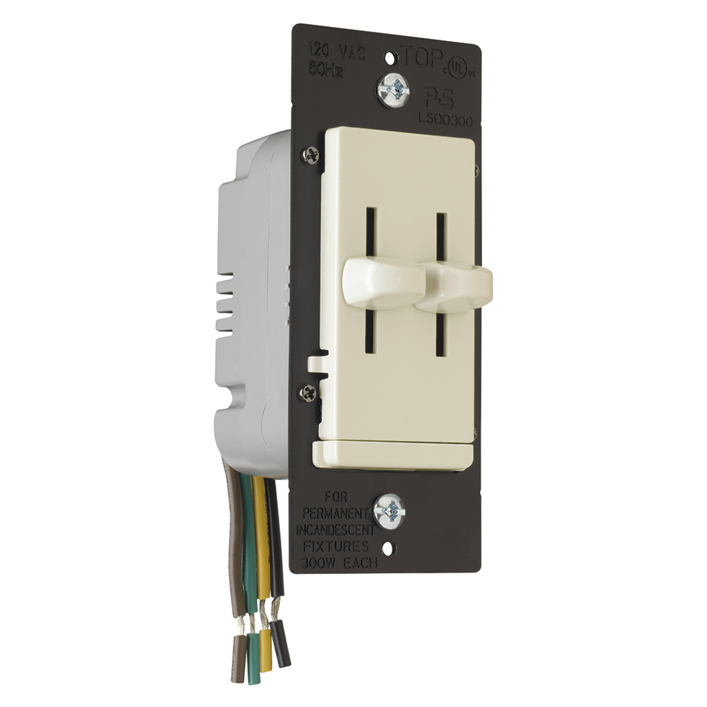 Lighting Controls Dimmers Sensors Systems 300pwh Diva 300w Electronic Low Voltage Single Pole Dimmer In White Ns Pass Lsdd300 La Dual