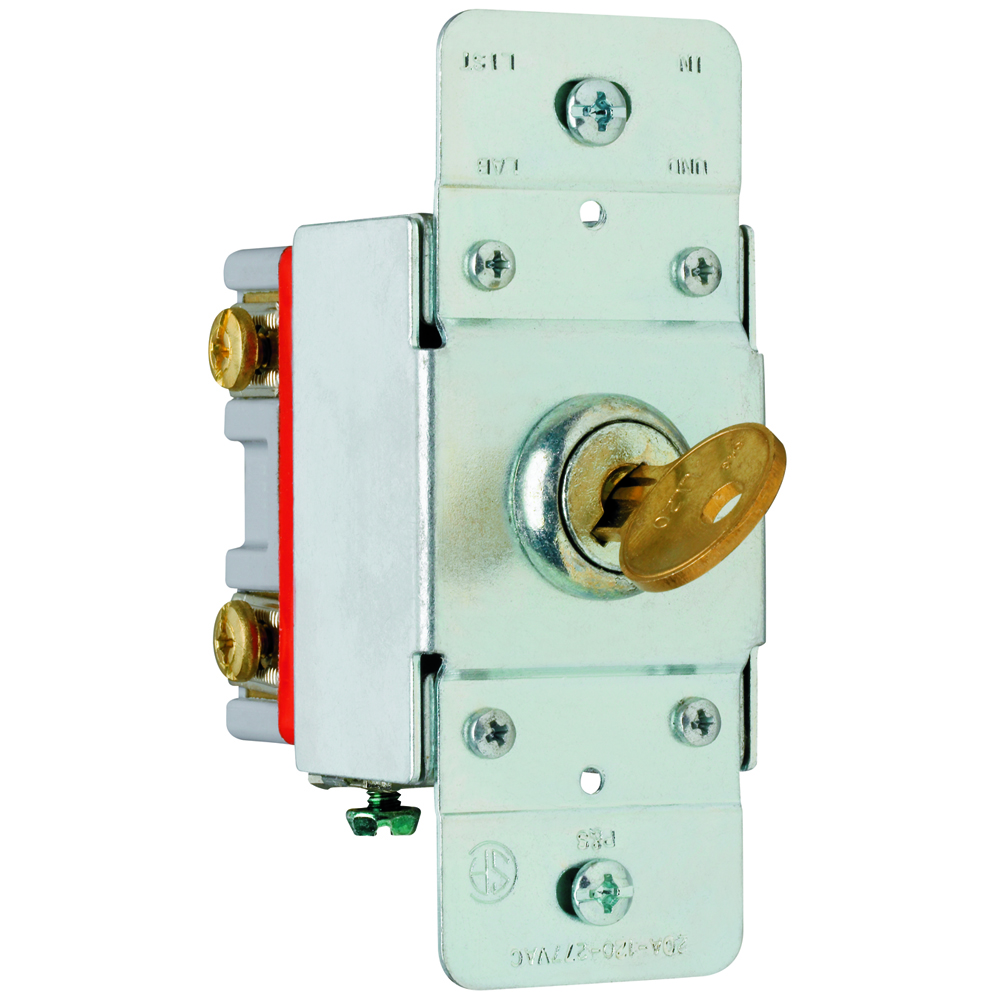 Pass & Seymour PS20AC2-KL 2pole Key Lock Back & Side Wire, 20A 120/277V