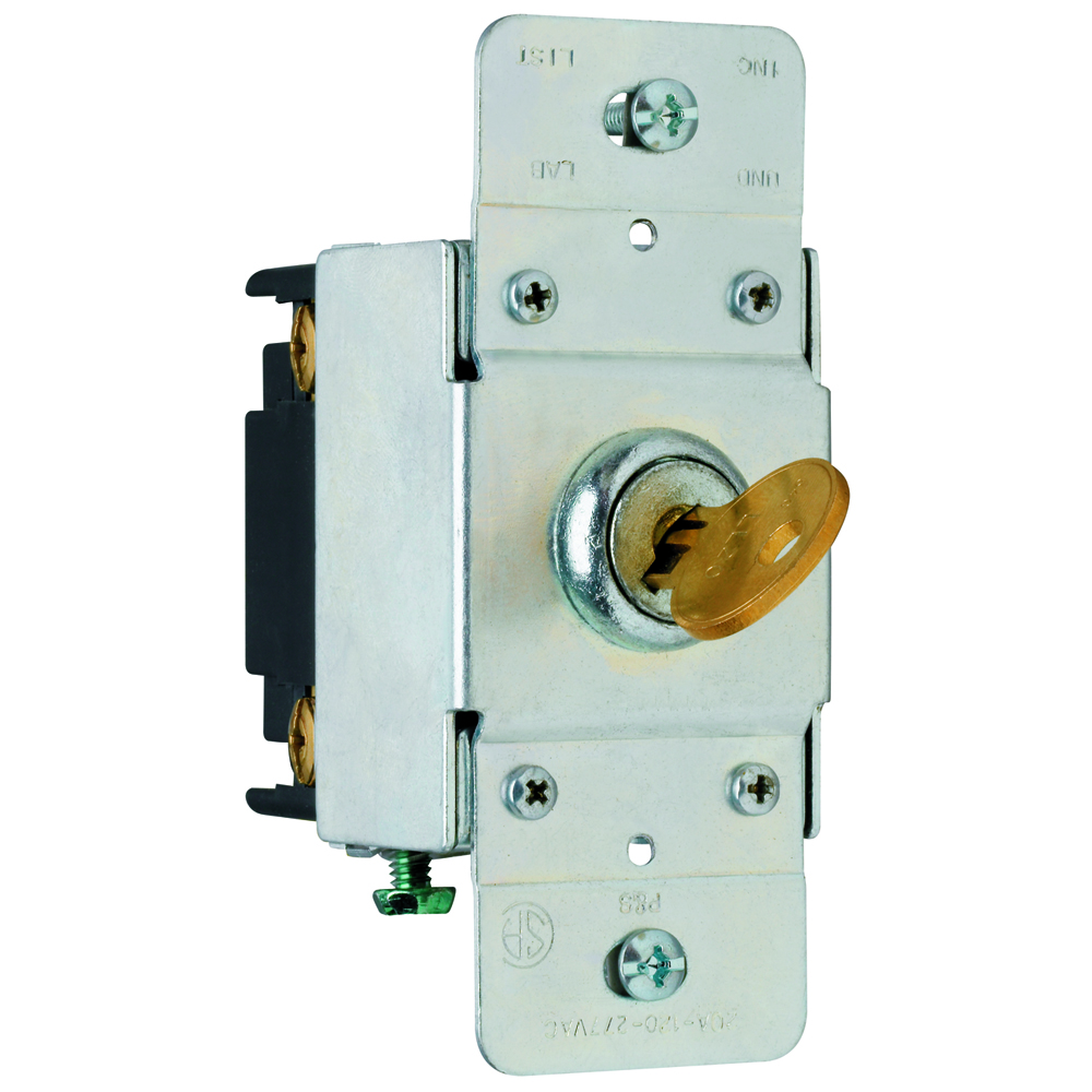 Pass & Seymour PS20AC4-KL 4way Key Lock Back & Side Wire, 20A 120/277V