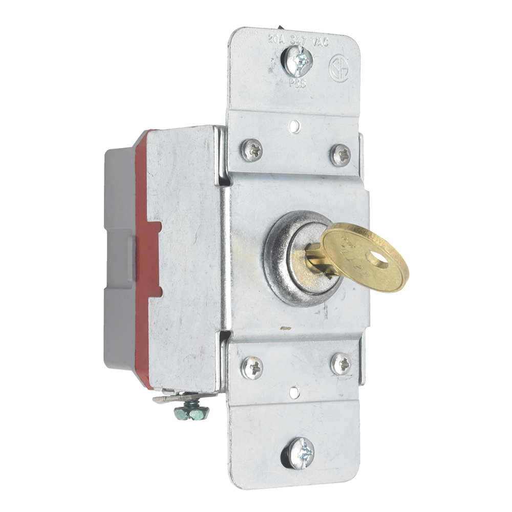 Pass & Seymour PS372010-KL Canadian 1pole Key Lock Back & Side Wire, 20A 347V