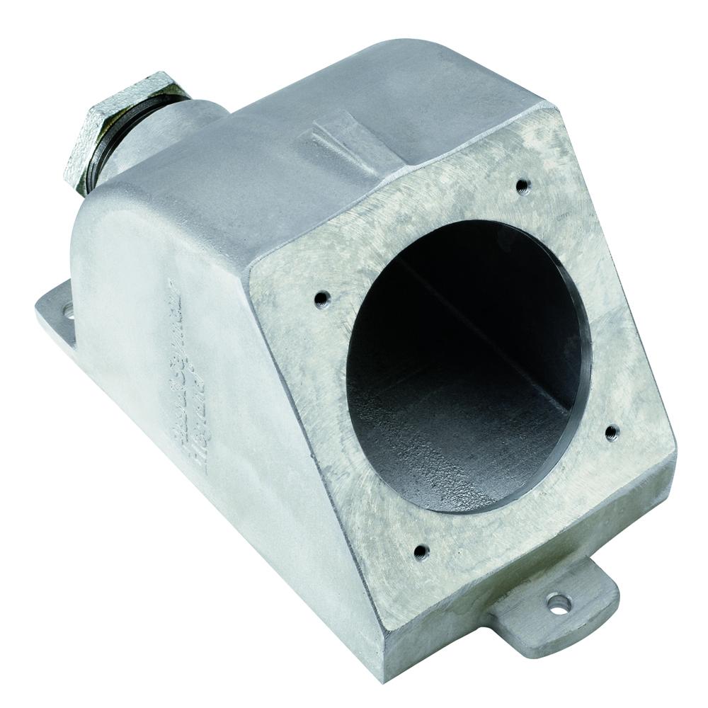 "Pass & Seymour PSBB601-W Angled Metallic Back Box w/ 1-1/2"" Hub, 60A"