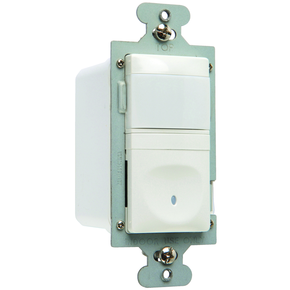 PS RWU600B-WCC4 Single Pole VacancySensor,3-Wire 600W, White**DISCONTINUED, SUGGESTEDREPLACEMANT IS RRW600VTC**