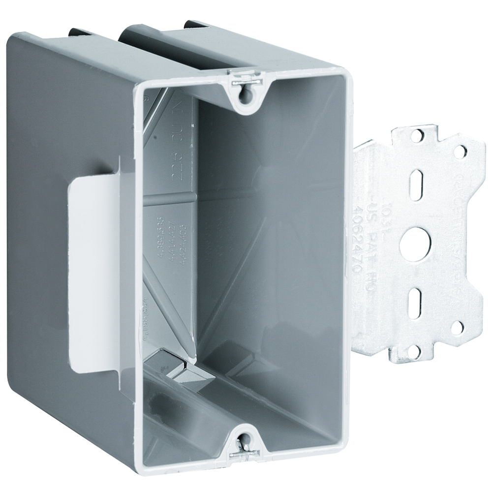 Pass & Seymour S1-22-S50 Single Gang, Deep Bracket Box, 3/8 Offset, for Use with 3/8 To 5/8 Wallboard
