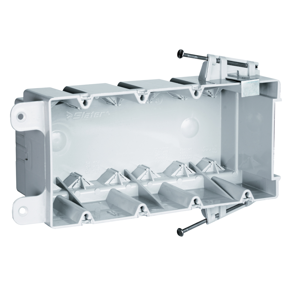 "Pass & Seymour S4-68-RAC 3-13/16 x 7-13/16 x 3"" 68"" 4-Gang Thermoplastic Switch and Outlet Box"
