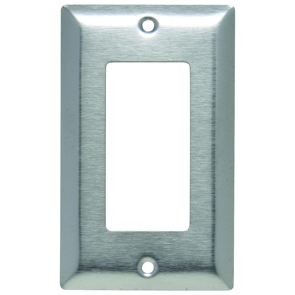 Pass & Seymour SL26 1Gang Wall Plate, Decorator, Standard - 430 Stainless Steel