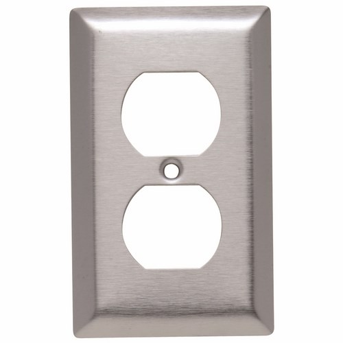 Pass & Seymour SL8 Smooth Metal Wall Plate 1Gang Duplex 430 Stainless Steel