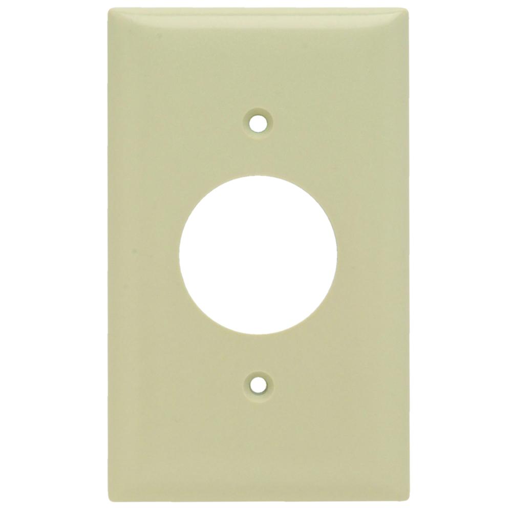 Pass & Seymour SP7-I 1Gang Wall Plate, Single Receptacle, Standard - Ivory