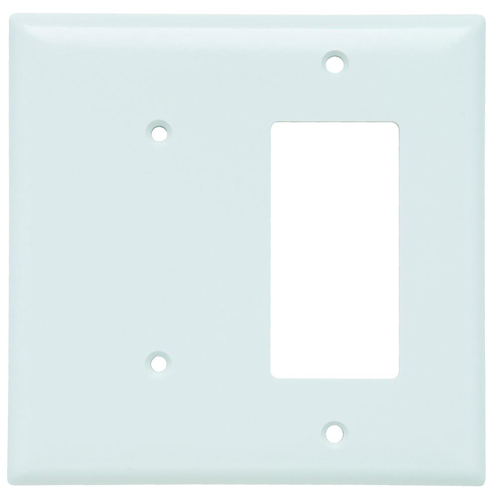 Pass & Seymour SPJ1426-W Smooth Wall Plate Junior-Jumbo 1Gang Blank 1Gang Decorator, White
