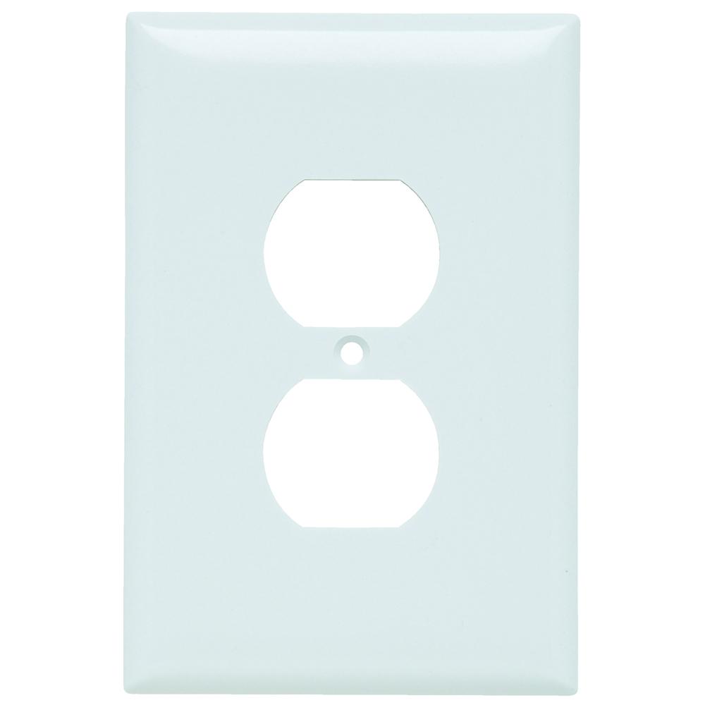 Pass & Seymour SPO8-W Smooth Wall Plate Jumbo 1Gang Duplex, White