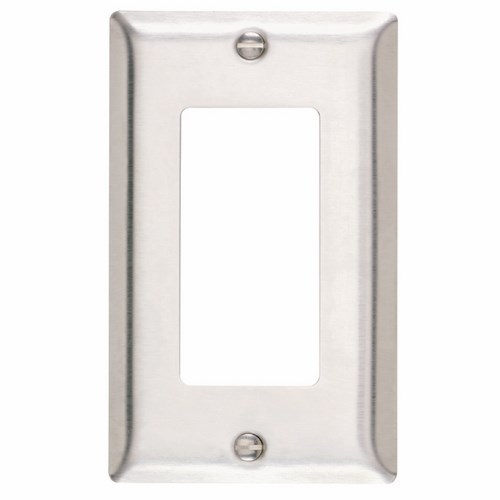 Pass & Seymour SS26 Smooth Metal Wall Plate 1Gang Decorator 302 Stainless Steel