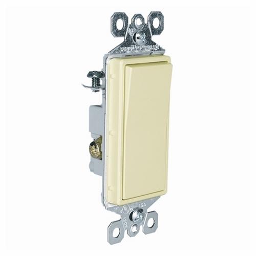 Pass & Seymour TM873-I Decorator Switch,3Way 15Amp 120/277V Grounding, Ivory