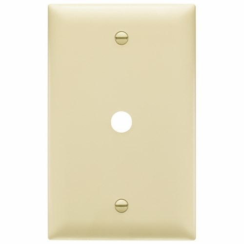 Pass & Seymour TP11-I 1-Gang 1-Telephone/Cable Outlet Ivory Nylon Standard Unbreakable Communication Wallplate