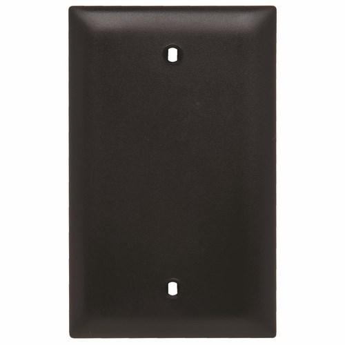 Pass & Seymour TP13-BK 1Gang Wall Plate, Blank, Box Mount, Nylon, Standard - Black