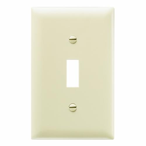 Pass & Seymour TP1-I 1Gang Wall Plate, Toggle Switch, Nylon, Standard - Ivory