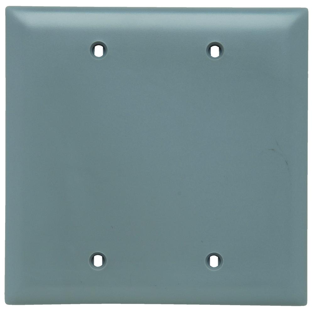 Pass & Seymour TP23-GRY P&S Gray 2G BLANK PLT