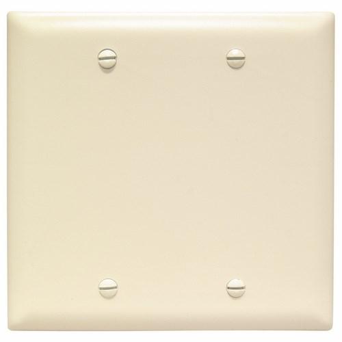 Pass & Seymour TP23-LA 2-Gang Blank Light Almond Nylon Standard Unbreakable Wallplate