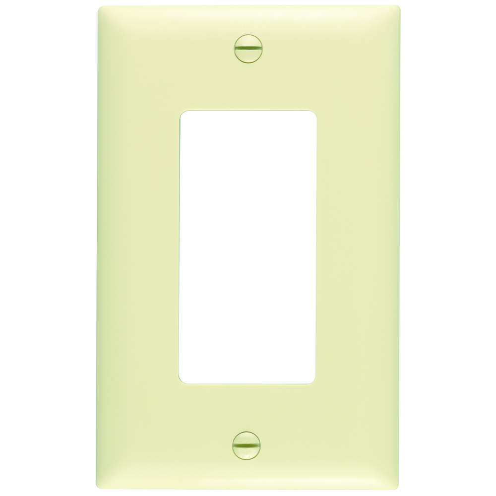 Wattstopper TP26-I 1-Gang 1-Decorator Ivory Nylon Standard Unbreakable Wallplate