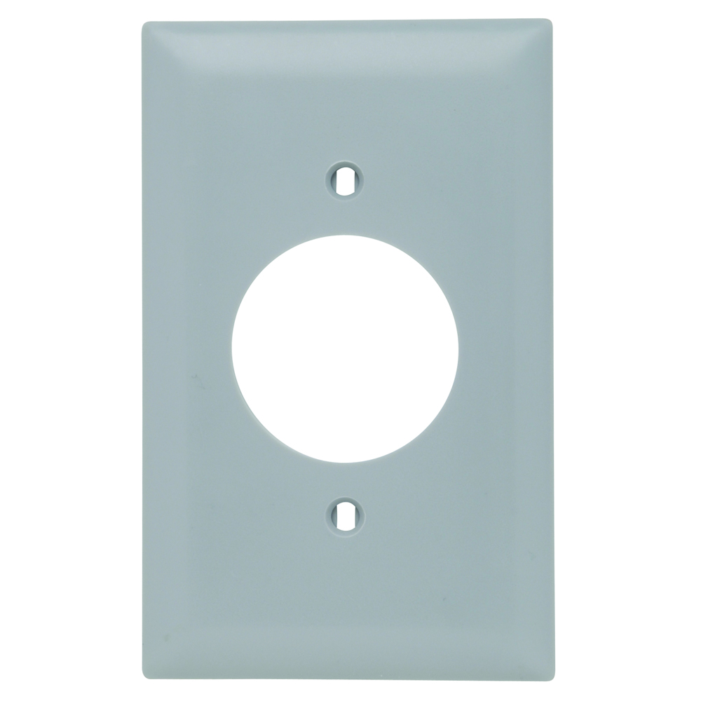 Pass & Seymour TP720-GRY 1-Gang 1-Power Outlet Receptacle Gray Nylon Standard Unbreakable Wallplate