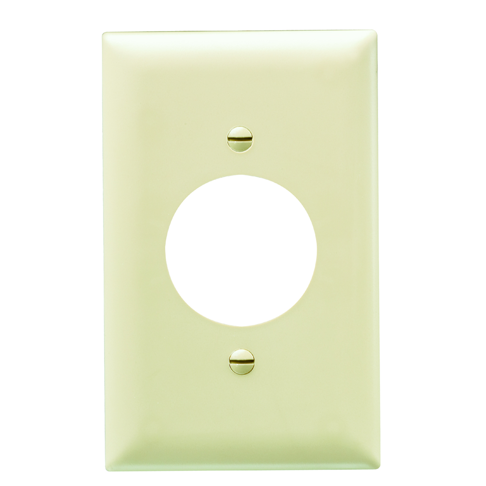 Pass & Seymour TP720-I 1-Gang 1-Power Outlet Receptacle Ivory Nylon Standard Unbreakable Wallplate