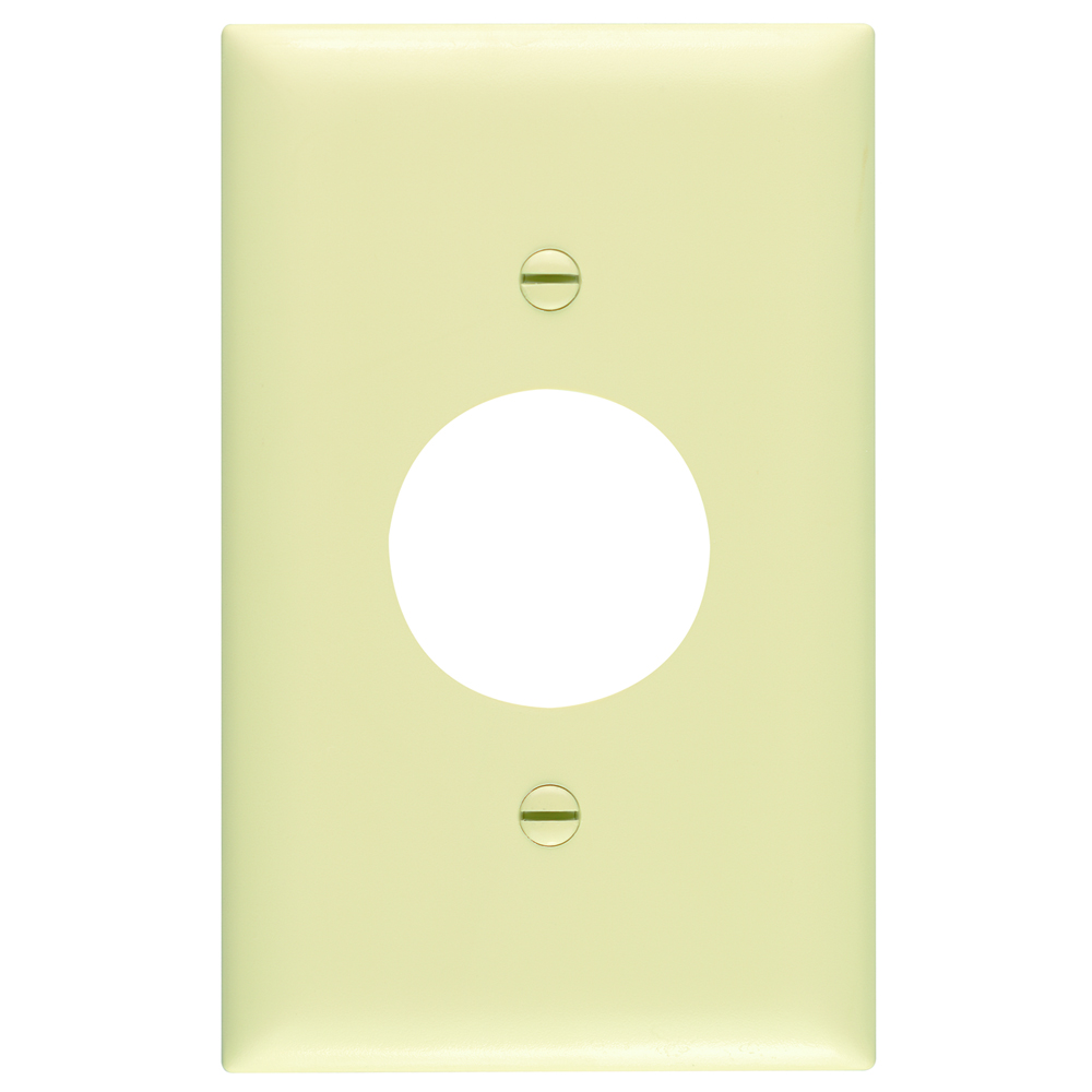 Pass & Seymour TP7-I 1-Gang 1-Single Receptacle Ivory Nylon Standard Unbreakable Wallplate