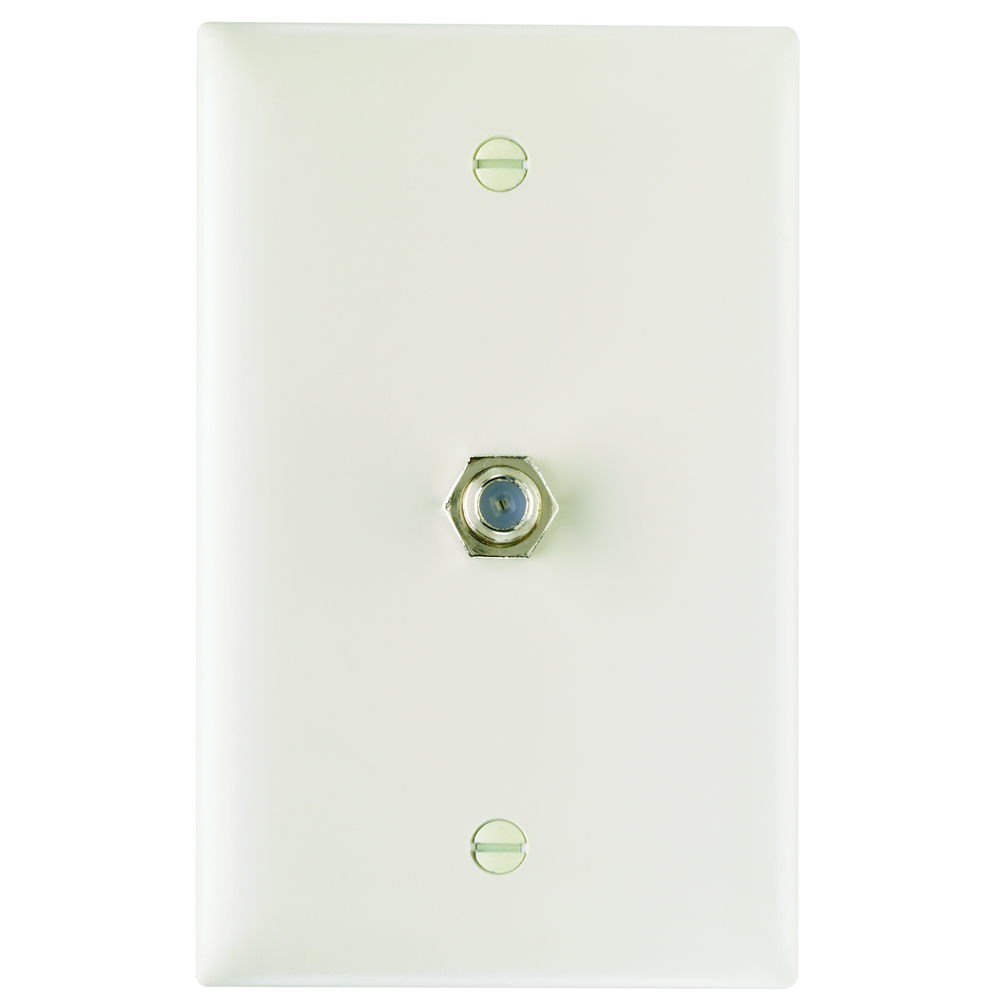 Pass & Seymour TPCATV-LA 1 Ghz F-Coupler Wall Plate, Light Almond (M10)