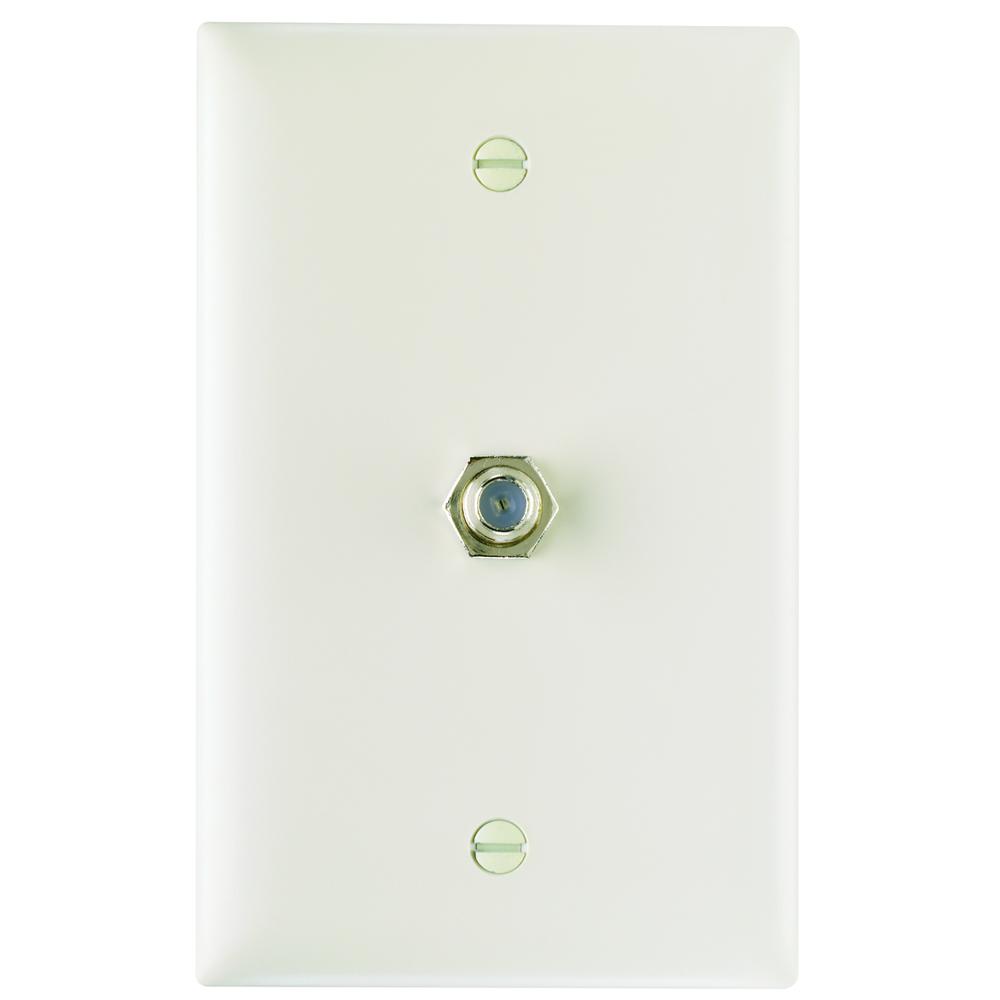 PS TPCATV-LA 1 Ghz F-Coupler WallPlate, Light Almond (M10)