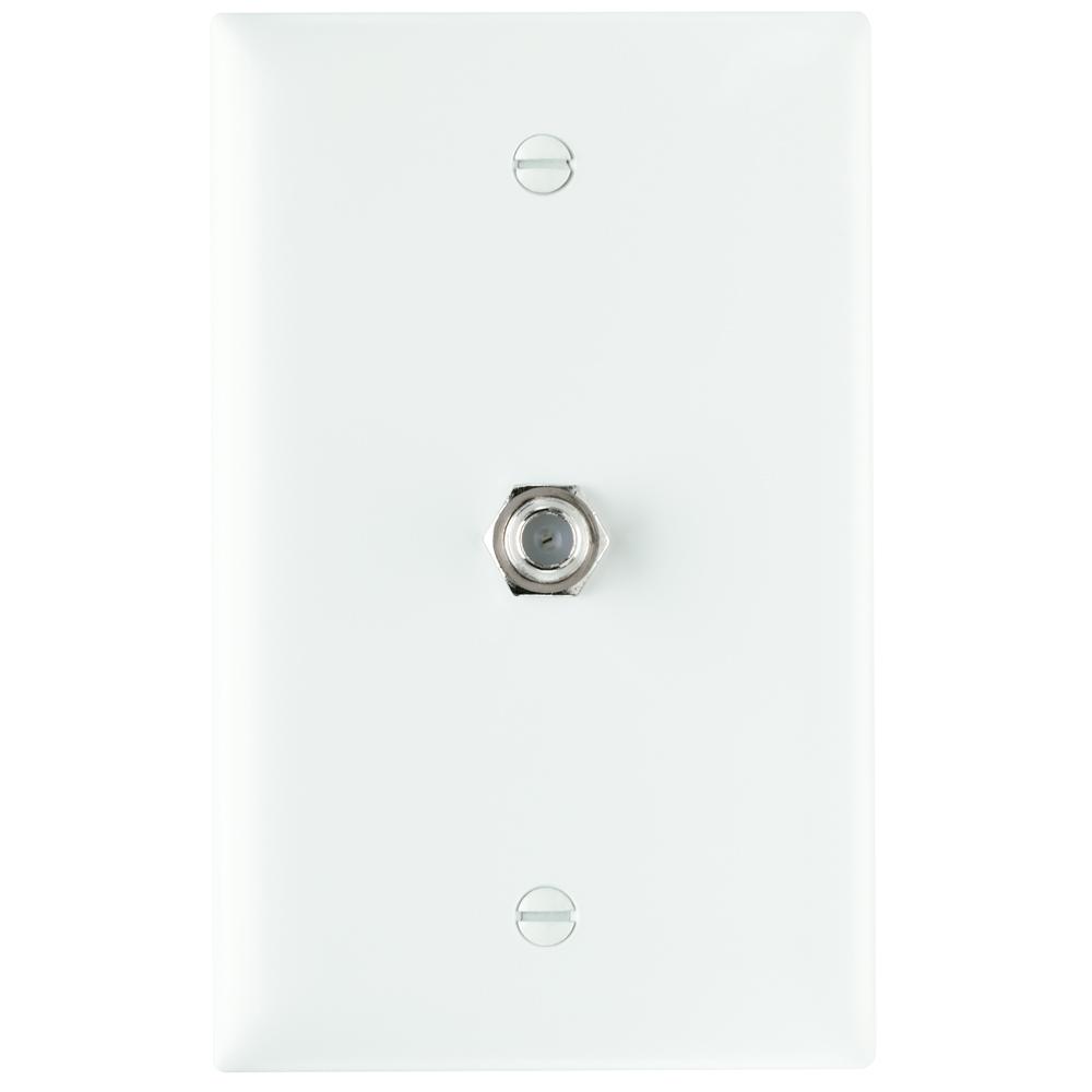 PS TPCATV-W 1 Ghz F-Coupler WallPlate, White (M10)