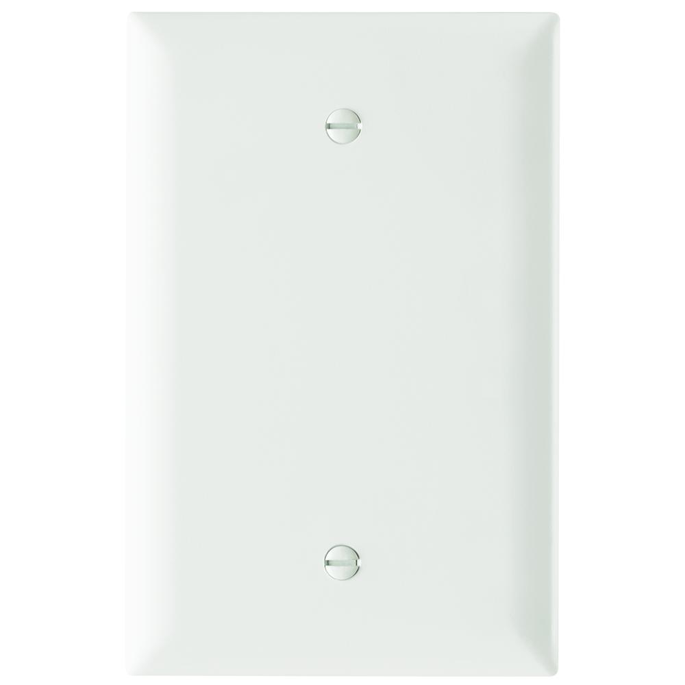 Pass & Seymour TPJ13-W Trademaster Wall Plate Jumbo 1Gang Blank, White