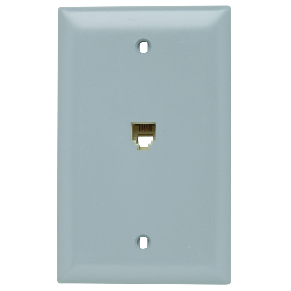 P&S TPTE1-GRY GRY 4-COND WALL PLATE