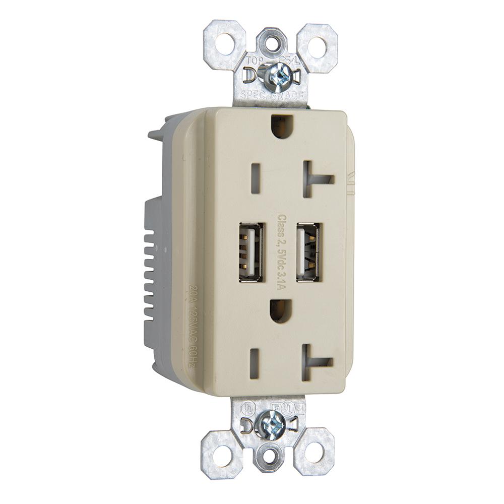 PS TR-5362USBI DUP REC 20A TR SPECW/3.1A USB CHRG I