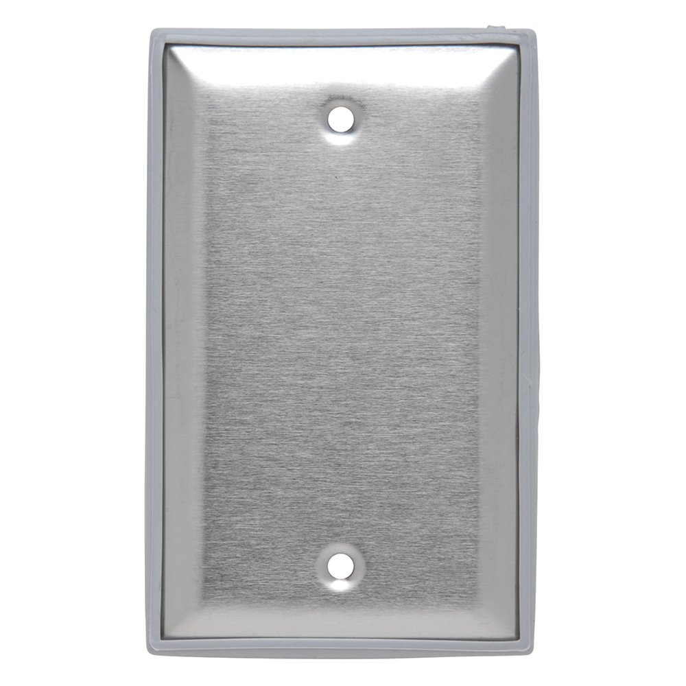 PS WP13 Stainless Steel Cover, 1Gang Blank, (Box Mounted), Gasketed