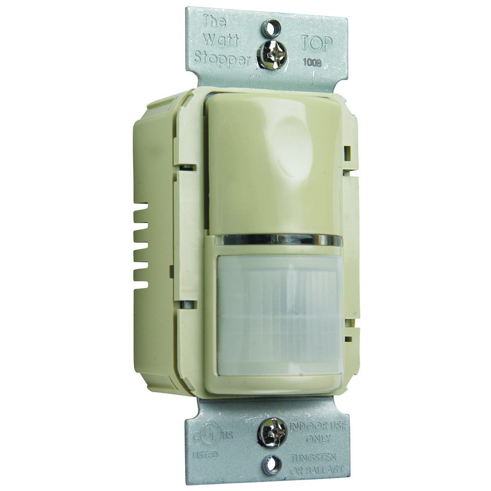 Pass & Seymour WSP250-I Passive Infrared Wall Switch Sensor, 1050 Sq.Ft. Coverage, 120 Vac 60 Hz/277 Vac 60Hz, Ivory
