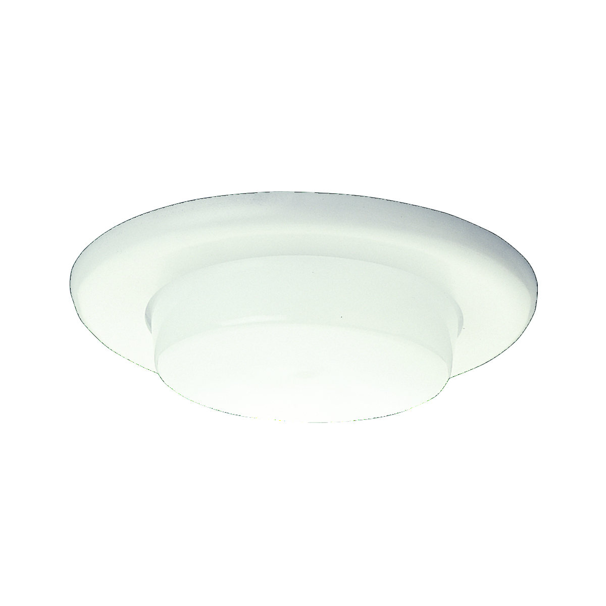 Hubbell Prescolite,TL60,Hubbell® TL60 Line Voltage Trim, Shower Trim, Round Baffle Style, 6.000 IN Diameter, Color: White, Compatibility: DBX, IBX, FT, Ceiling Mount
