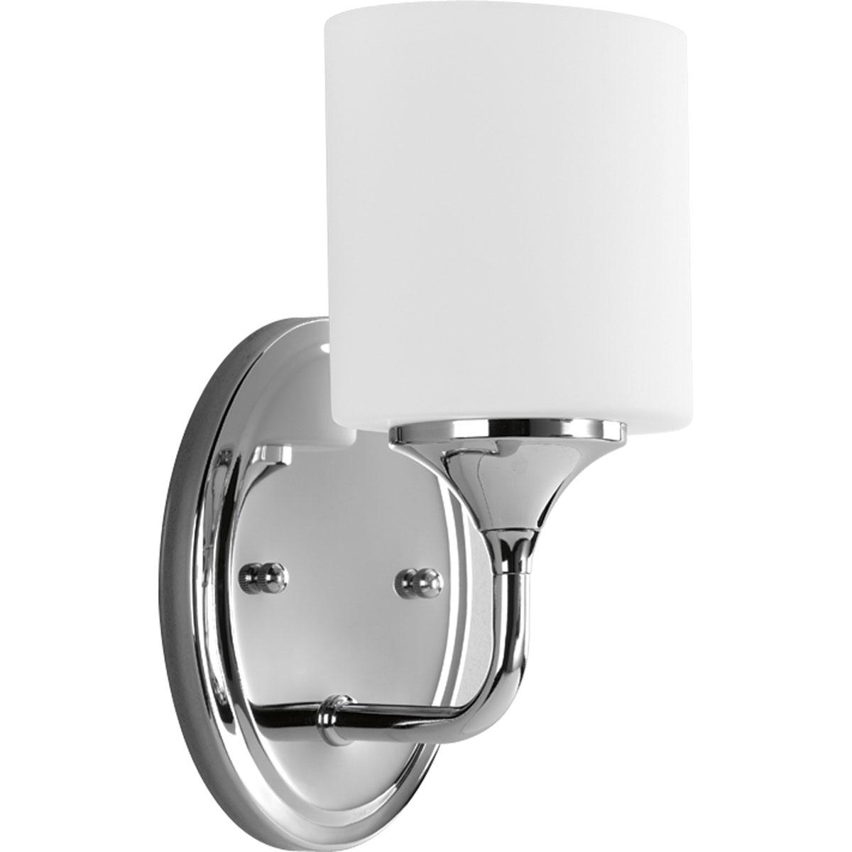 PROGRESS,P2801-15,1-Lt. Chrome Bath Light With Etched Opal Glass Oval Shaped Shades